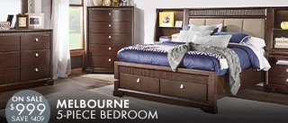 Melbourne 5 pc Queen bedroom