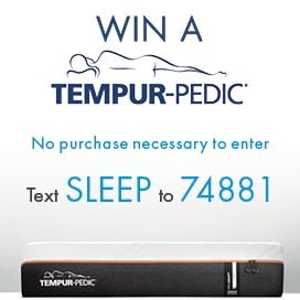 Tempur-Pedic Win a Mattress